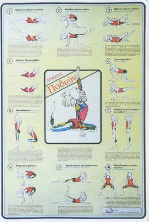 ΑΣΚΗΣΕΙΣ ΠΟΔΙΩΝ [ΑΦΙΣΑ νο10]. Αφίσες - Χάρτες -  -